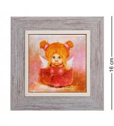 ANG-743 Панно керамическое «Мечтательный ангел» 10х10