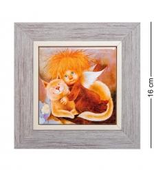 ANG-745 Панно керамическое «Ангел тепла и уюта» 10х10