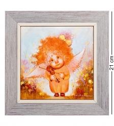 ANG-780 Панно керамическое  Ангел душевной гармонии  15х15