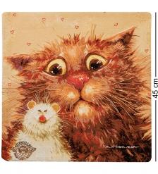 ANG-781 Наволочка гобеленовая  Кошки-мышки  45х45