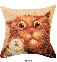 ANG-781/1 Подушка гобеленовая  Кошки-мышки  45х45