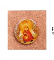 ANG-793 Закатный значок  Ангел освещающий жизненный путь