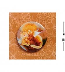 ANG-795 Закатный значок  Ангел тепла и уюта