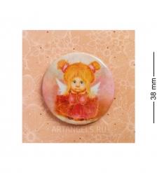 ANG-797 Закатный значок  Мечтательный ангел