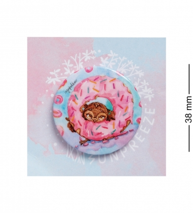 SZ-267 Закатный значок Один кофе - один пончик