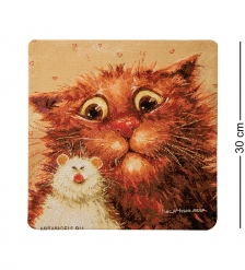 ANG-803 Наволочка гобеленовая  Кошки мышки  30х30