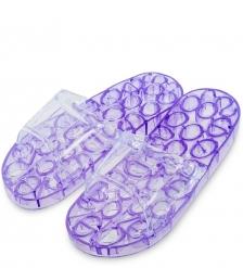 MSG-08/04-M Массажные тапочки фиолетовые