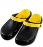 MSG-10/03-S Массажные тапочки черно-желтые