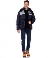 ЯЛ-02-20 Куртка муж. зимняя, р.44-46, рост 182-188, т-синяя с серым