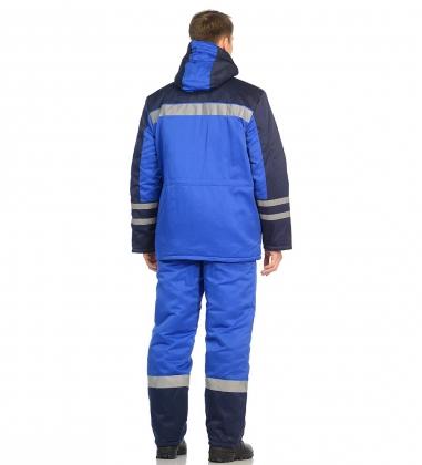 ЯЛ-02-23 Костюм муж. зимний, р.48-50, рост 170-176,  васильковый с т-синим