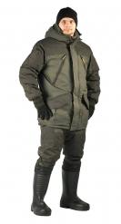 ЯЛ-02-32 Костюм куртка/полукомб. р.60-62, рост 182-188, зимний, хаки