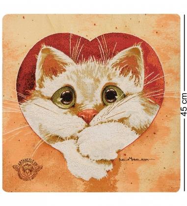 ANG-836 Наволочка гобеленовая  Ты навсегда в моем сердце  45х45
