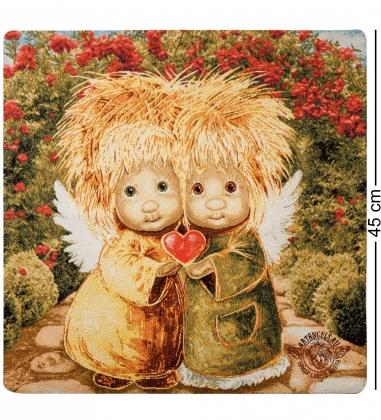 ANG-863 Наволочка гобеленовая «Мы всегда будем беречь твое сердце» 45х45