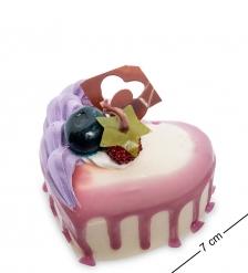 QS-31/1 Пирожное «Сладкое сердце»  имитация, магнит