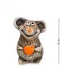 Фотография KK-613 Фигурка  Мышонок с сердцем  шамот №1