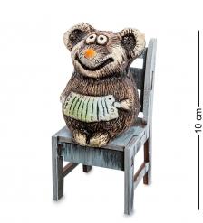 KK-615 Фигурка  Мышонок с гармонью на стуле  шамот