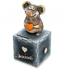 KK-622 Копилка  Мышонок с сердцем  шамот