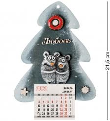KK-629 Магнит-календарь  Елка  шамот