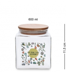 GS-15/2 Банка для сыпучих Вальс цветов 600мл