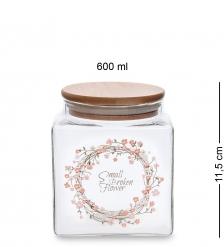 GS-17/2 Банка для сыпучих Цветочное очарование 600мл