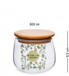 GS-41/2 Банка для сыпучих «Флора и фауна» 600мл