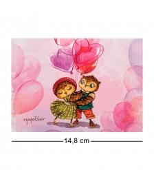 SZ-302 Почтовая открытка Танго поцелуев