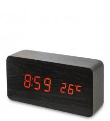 ЯЛ-07-09/10 Часы электронные  чёрное дерево с красной подсветкой