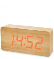 ЯЛ-07-03/ 6 Часы электронные бол.  жёлтое дерево с оранжевой подсветкой