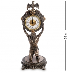 WS-1003 Статуэтка-часы «Атлант»