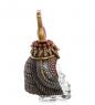 WS-1030 Флакон Египетский головной убор на стеклянном черепе