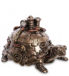 WS-1061 Статуэтка-шкатулка в стиле Стимпанк «Черепаха»