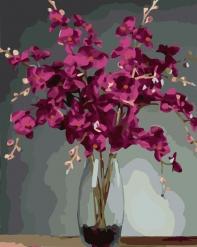 HBK-39 Картина по номерам  Орхидея   средне