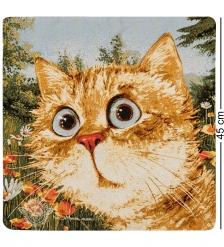 ANG-897 Наволочка гобеленовая  Любимый котик  45х45