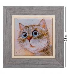 ANG-917 Панно керамическое  Любимый котик  10х10