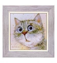 ANG-943 Панно керамическое  Любимый котик  15х15