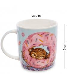 SZ-329 Кружка фарфоровая  Один кофе - один пончик