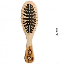 BST-327/1 Массажная расческа деревянная «Сова»  береста