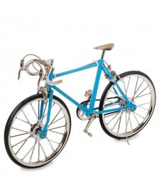 VL-17/4 Фигурка-модель 1:10 Велосипед шоссейник Racing Bike голубой