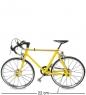 VL-19/3 Фигурка-модель 1:10 Велосипед гоночный «Roadbike» желтый
