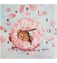 SZ-338 Часы «Один кофе - один пончик»