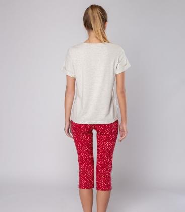 Пижама женская 5203/7, р.084, рост 170, молочный меланж комб.  Serge