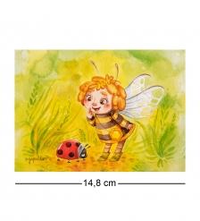 SZ-357 Почтовая открытка Удачливая пчелка