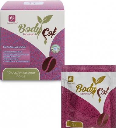 MED-53/06  Body Cof lepresso  биогенный кофе, 10 саше-пакетов по 5 г