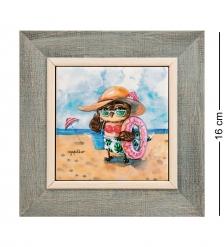 SZ-443 Панно керамическое «Солнце! Море! Пляж!» 10х10