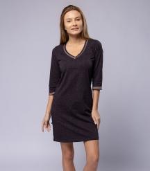 Сорочка ночная женская 8217, р.084, рост 170, кофейный с рис. 2776  Serge