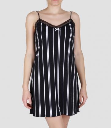 Сорочка ночная женская 8611/1, р.084, рост 170, черный с рис. 2022  Serge