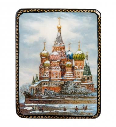 ШК-19/10-B Шкатулка в технике декупаж «Москва»  10х8х3,5