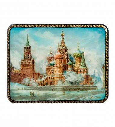 ШК-19/10-C Шкатулка в технике декупаж «Москва»  10х8х3,5