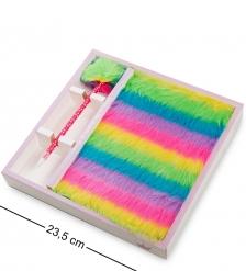 NB-23/4 Блокнот с ручкой  Радужный пушистик