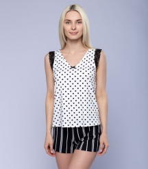 Пижама женская 5047/2, р.104, рост 170, молочный комб.  Serge